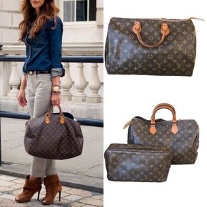 Speedy 40 with cosmetic case Louis Vuitton